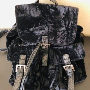 Steve Madden velvet backpack black